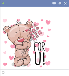 Teddy with Flowers Sticker