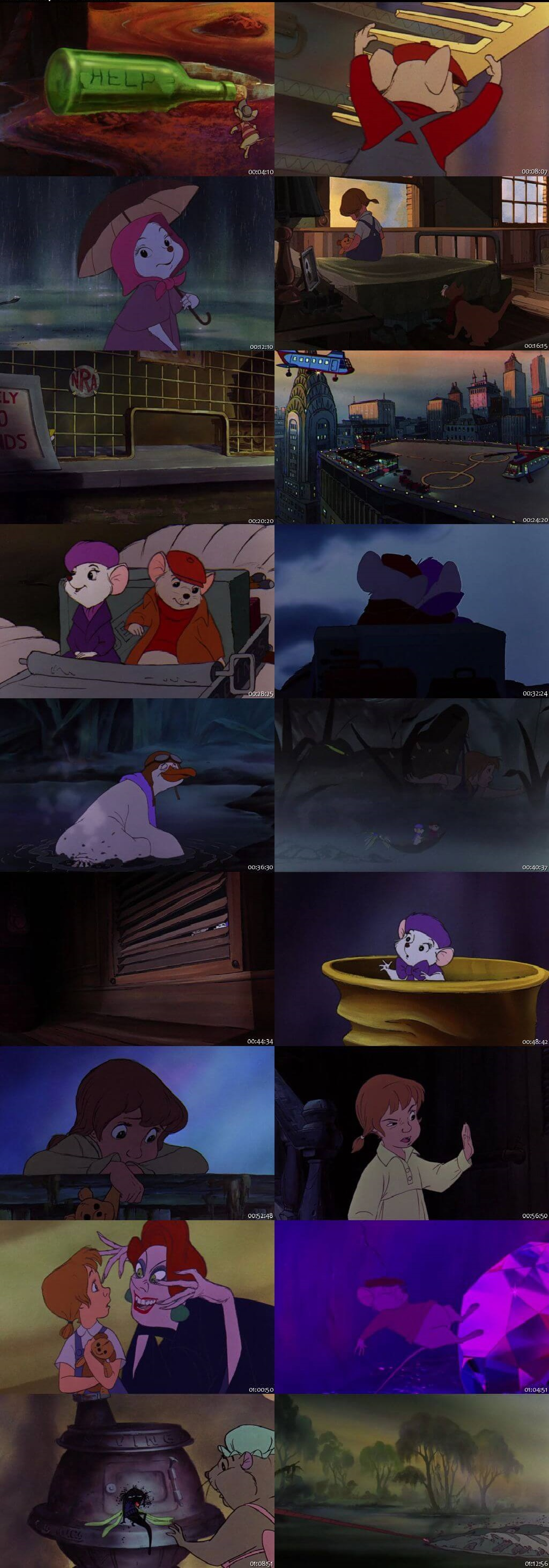 Screen Shot Of The Rescuers 1977 300MB Full Movie Hindi Dubbed Free Download 480P BRRip Small Size PC Movie