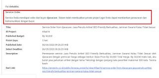orderan jasa dari project.co.id