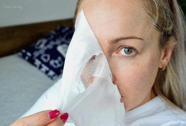 Maska do twarzy na tkaninie Pixi GLOW Glycolic Boost recenzja
