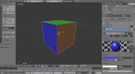 Hasil pewarnaan menggunakan material blender 3d