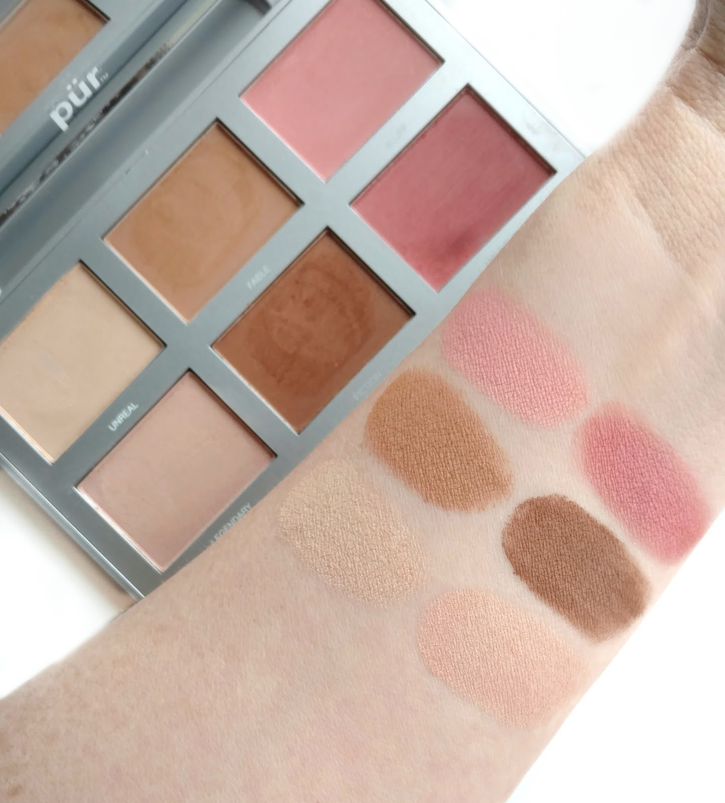 pur cosmetics epic illusion palette swatches