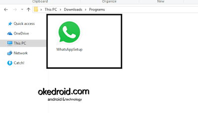 Program WhatsApp Setup di Windows