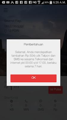 Trik Pulsa Gratis Telkomsel