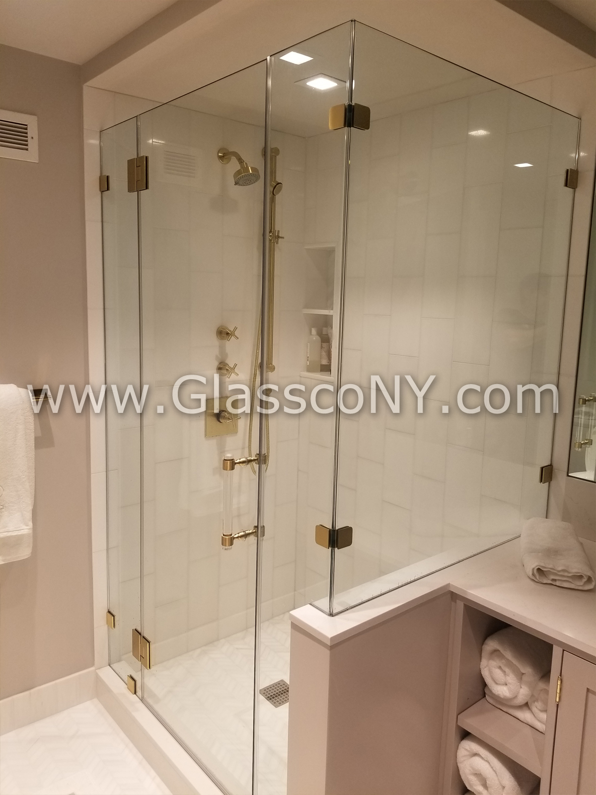 Right Angle Shower Doors