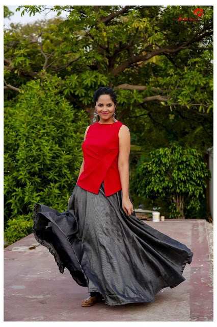 Anasuya Bharadwaj Latest Stunning Photoshoot Pics Navel Queens