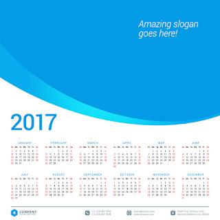 2017カレンダー無料テンプレート112