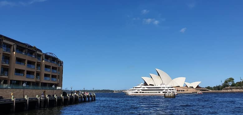 a picture of Sydney Opera in the harbour
