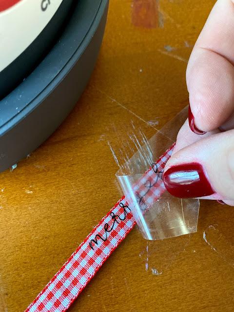 heat transfer vinyl, custom ribbon, htv, easypress mini, christmas project