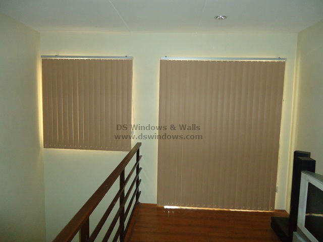 PVC Vertical Blinds for One Bedroom Loft Apartment - Calamba Laguna, Philippines