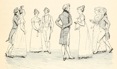 The Netherfield ball by Hugh Thomson from Pride and Prejudice by Jane Austen (1894 edition)