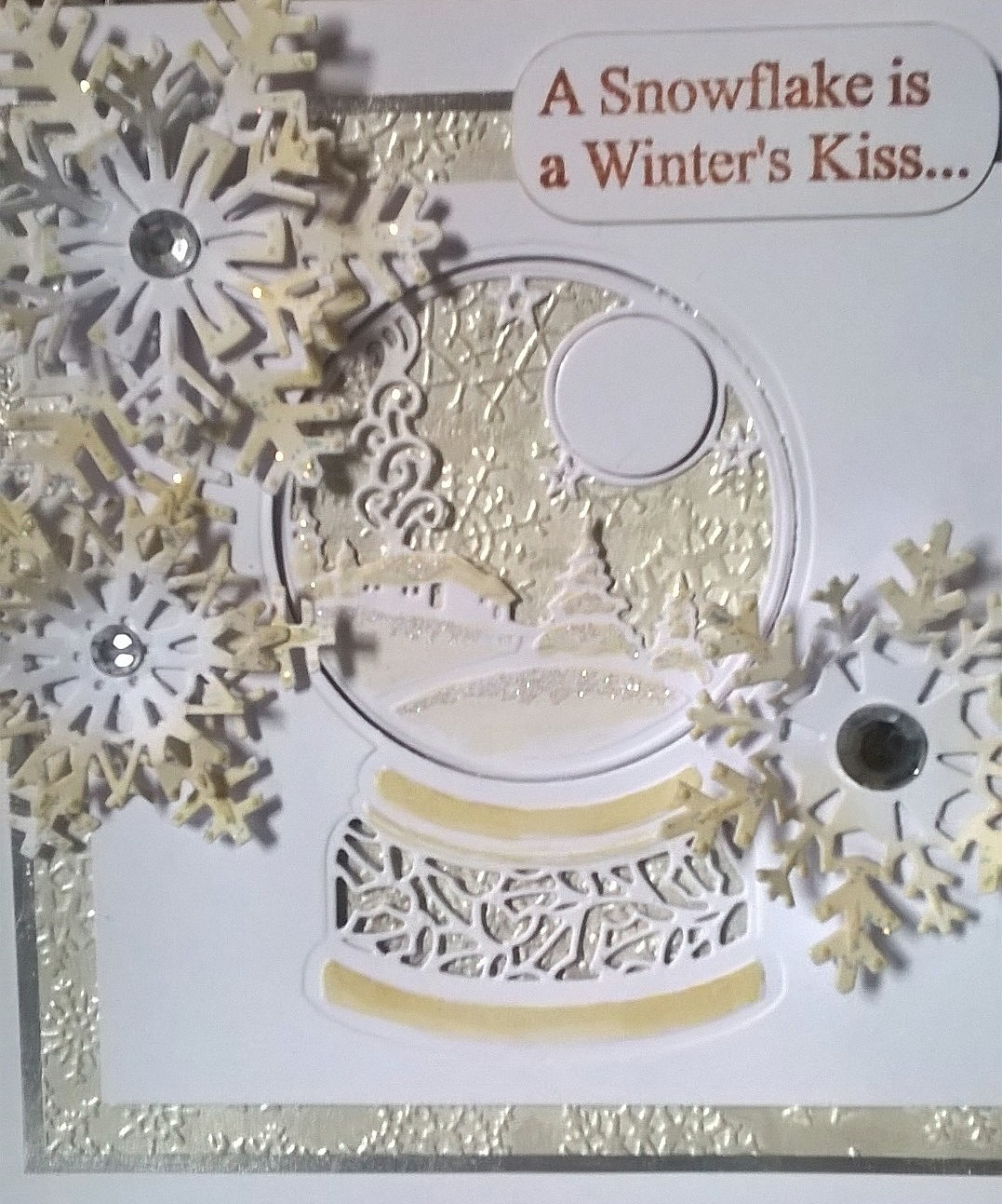 ME and MY Inky Fingers: Feeling Festive in July - Snow Globe from ...