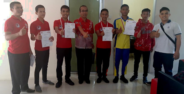 Juara di Kapoldasu 2018, Atlet Wushu Siantar Diterima di Balai Kota