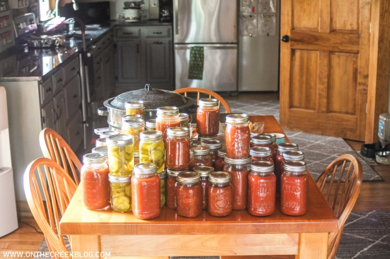 home canned goods - pasta sauce, salsa, pickles & relish | On The Creek Blog