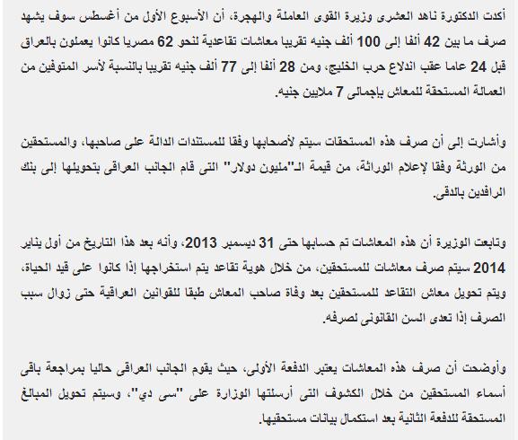 اسماء المصريين الذين لم يتسلمو عقودهم بالأردن 2014.طبقا للحروف