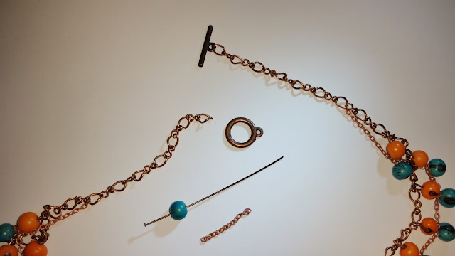 perle, açais, chaînette, collier, bijoux, DIY, tuto, La Perle des Loisirs, Bonnie Parker Créations