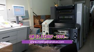 Mesin cetak SM 52 4 warna