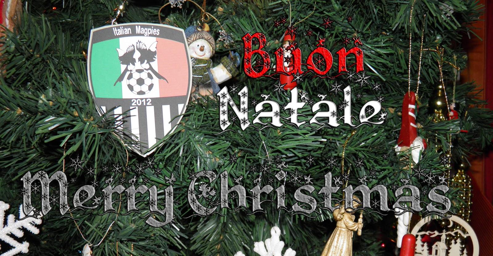 Juventus Buon Natale.Italian Magpies Buon Natale Merry Christmas