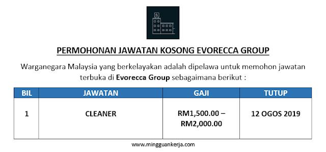 Cleaner - Evorecca Group