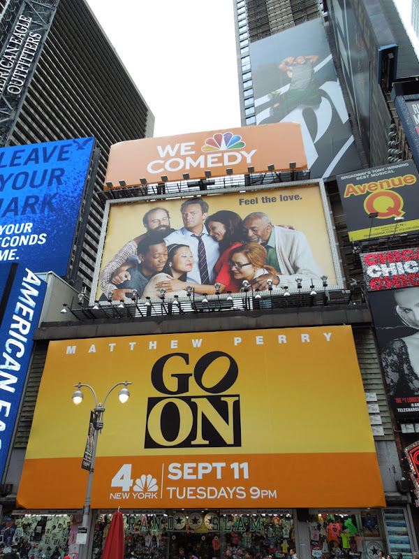 Go On billboards Times Square