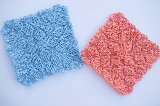2 - Crochet Imagen Puntada colcha infinita de hojas en relieve a crochet por Majovel Crochet