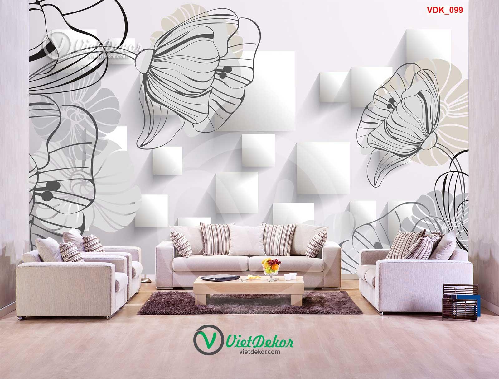 Tranh dán tường 3d phòng khách phòng ngủ đẹp