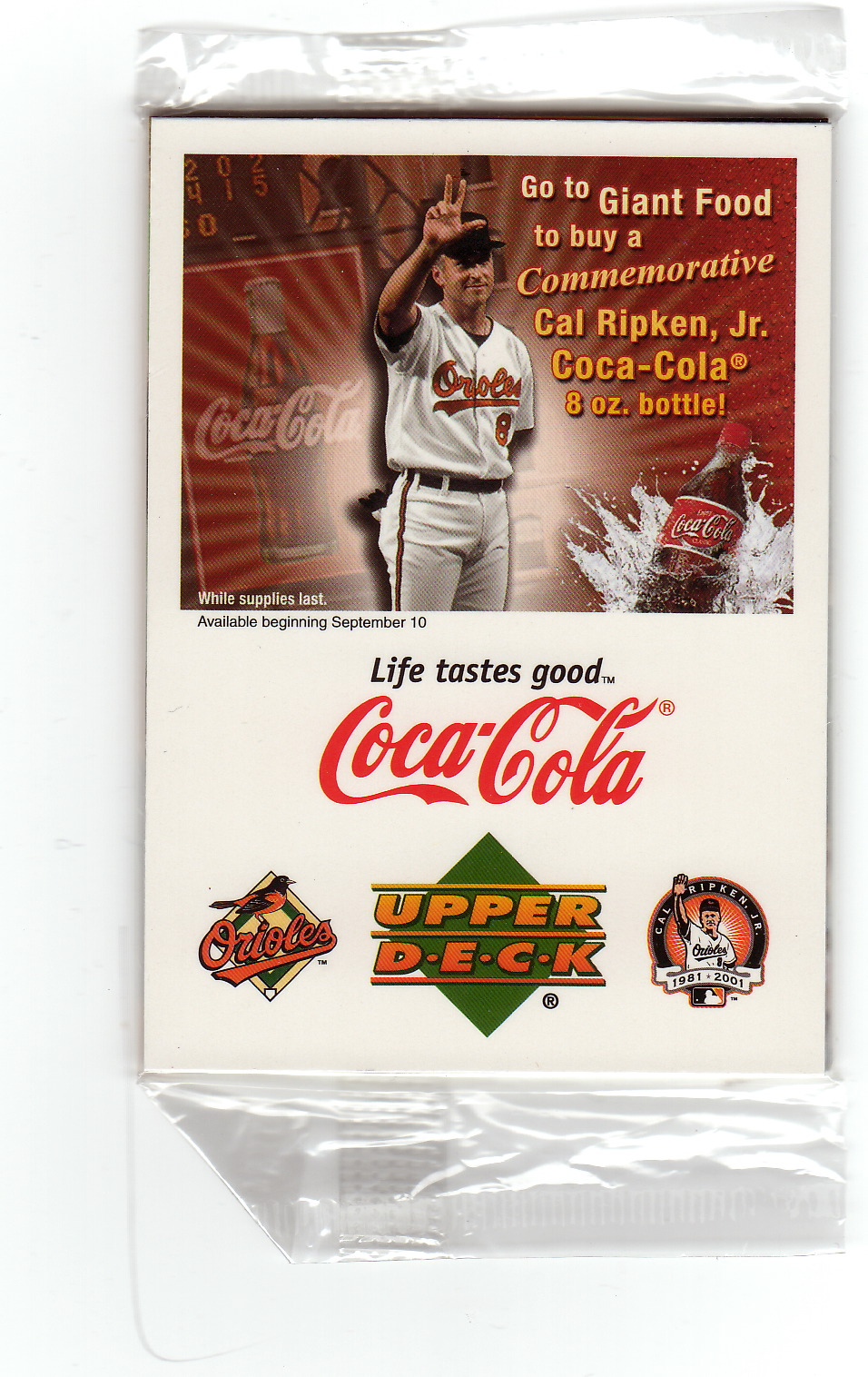 the baseball card blog coca cola commemorates cal coca cola. Black Bedroom Furniture Sets. Home Design Ideas
