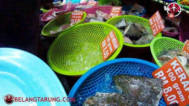 Seafood Mentah Di Halim Gulai Panas