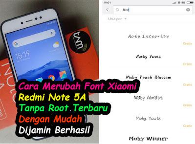 Cara-Merubah-Font-Xiaomi-Redmi-Note-5A-Tanpa-Root-Terbaru