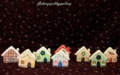 galletas navideñas decoradas casitas en glasa