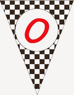 Cars Flags. Banderines para Fiesta de Cars.