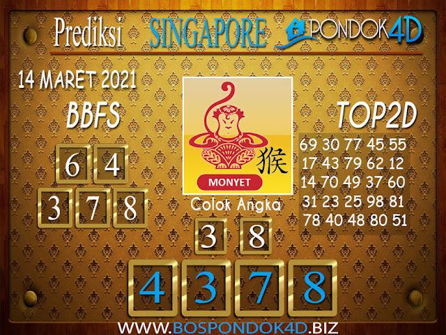 Prediksi Togel SINGAPORE PONDOK4D 14 MARET 2021