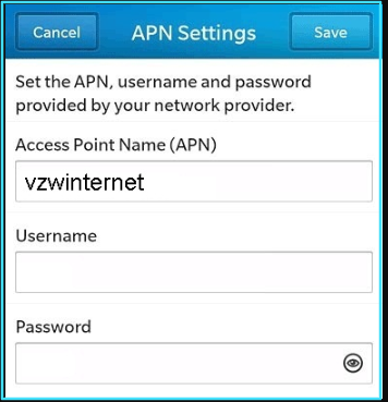 New Straight Talk apn settings blackberry