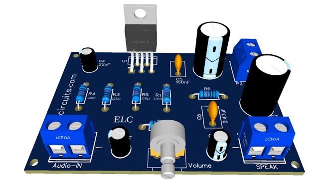 HI FI 32W Audio Amplifier - TDA2050 - Simple PS + PCB