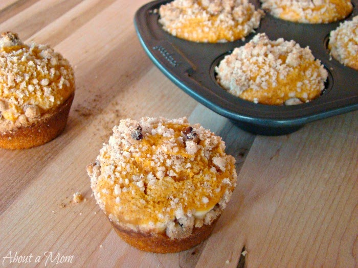 About a Mom shared her Pumpkin Cream Cheese Muffins at One More Time Events.com