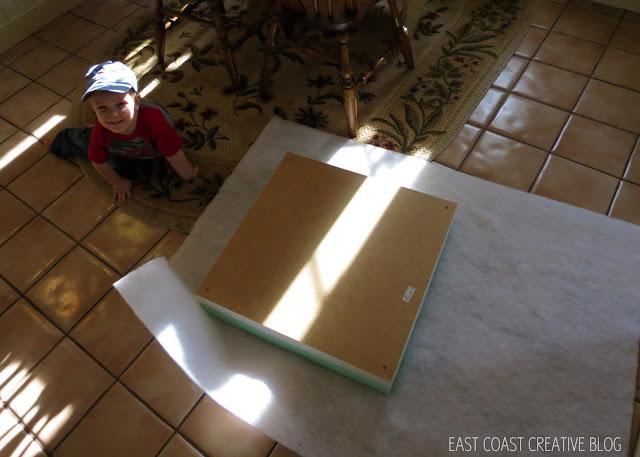 upholstering an ottoman