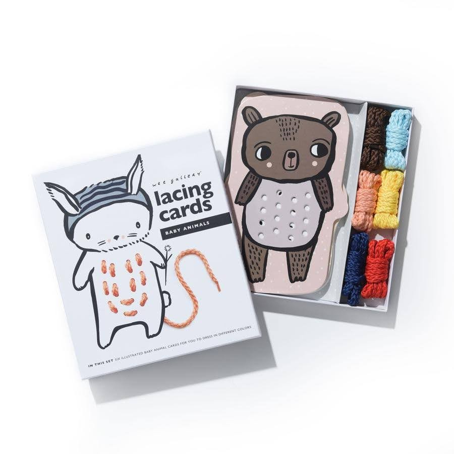 Lacing Cards - Baby Animals | Wee Gallery