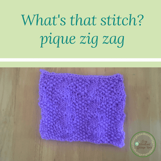 Picture of what's that stitch pique zig zag