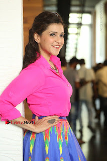 Actress Mannar Chopra in Pink Top and Blue Skirt at Rogue movie Interview  0144.JPG