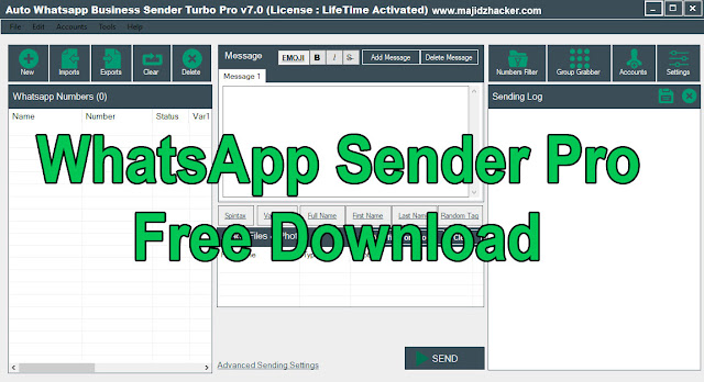 Download Auto WhatsApp Business Sender Turbo Pro V7.0 Full Activated Crack