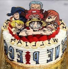 Kue Gambar One Piece