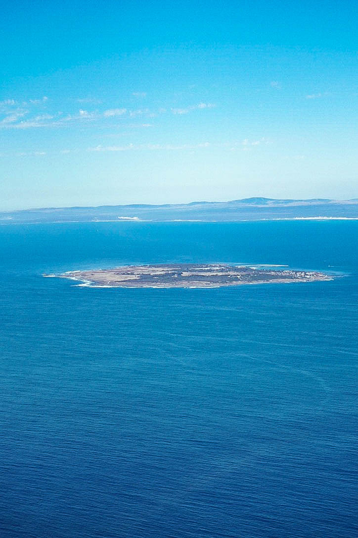 Robben Island from the air