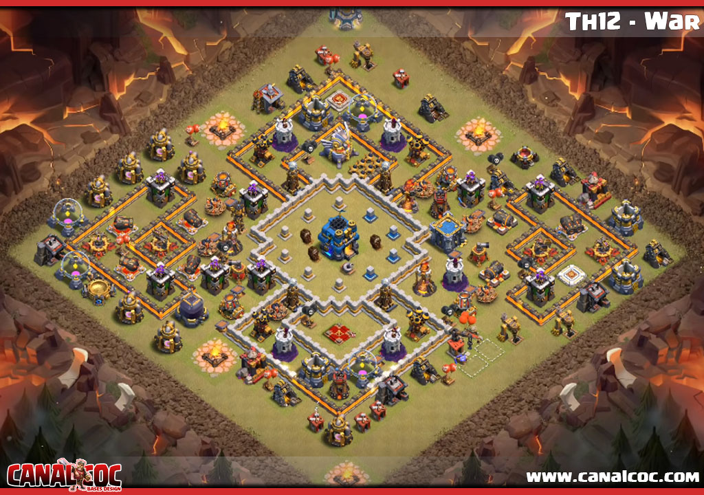 Best Coc Th 12 War Base 9
