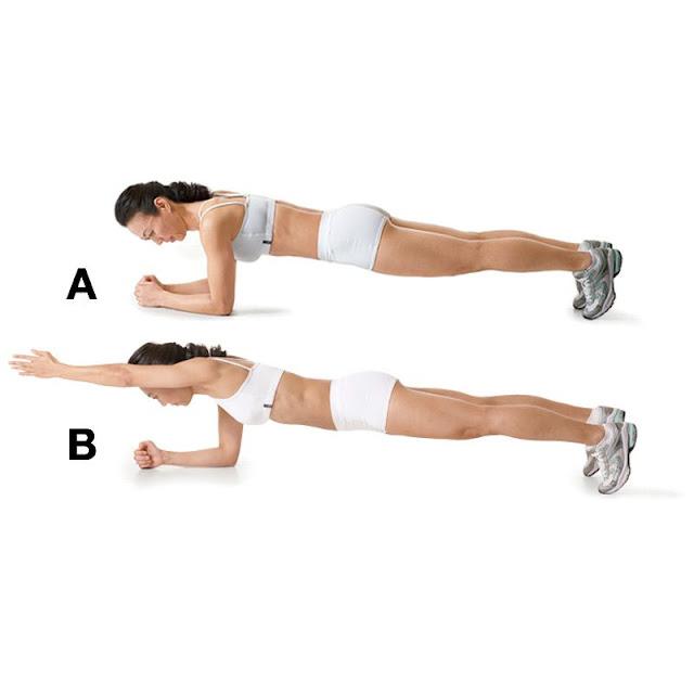 Plank arm lifts