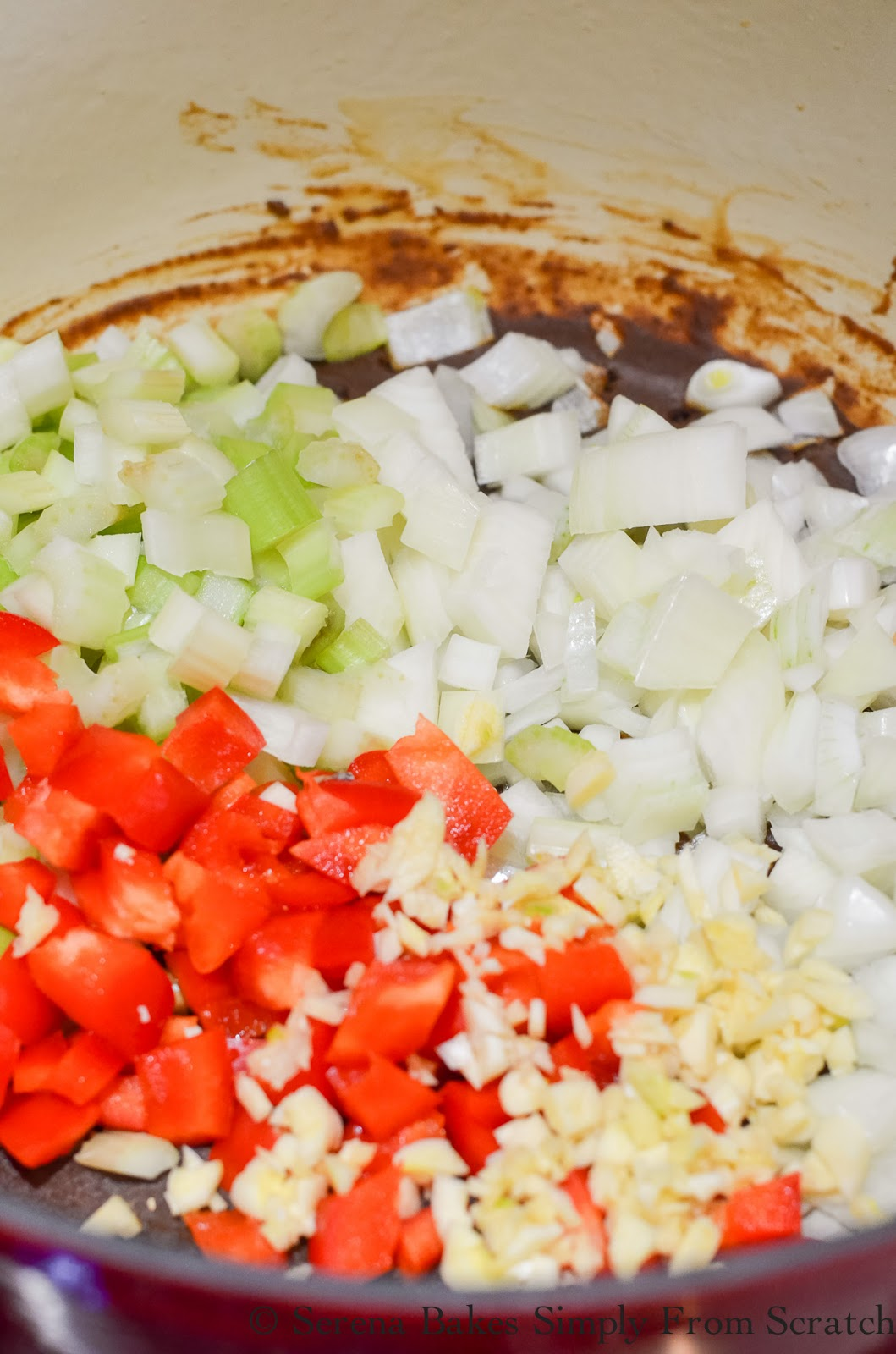 Chicken and Sausage Gumbo Celery Onions Garlic Bell Pepper