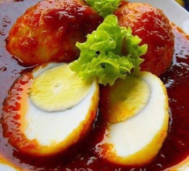 Telur Rebus Goreng Masak Merah