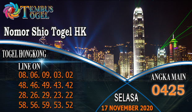 Nomor Shio Togel Hongkong Hari Selasa 17 November 2020