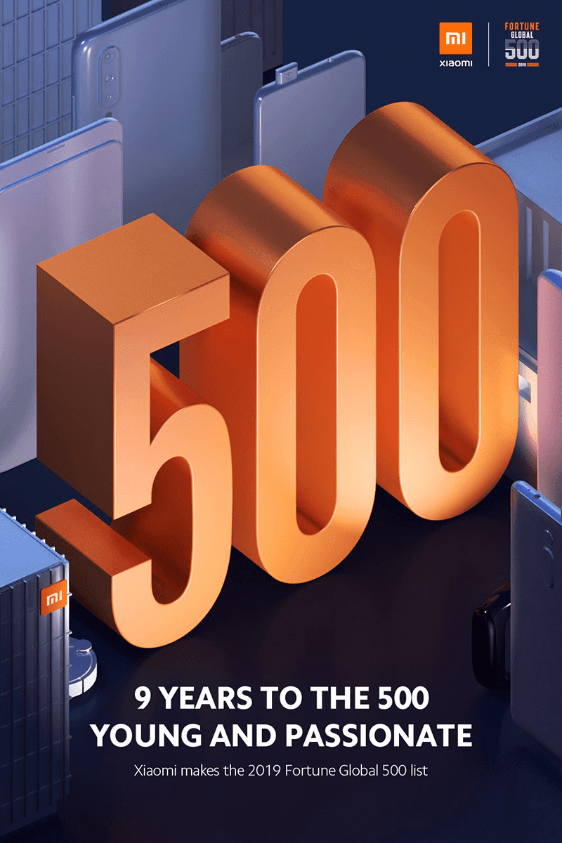 Xiaomi enters the Fortune 500, the youngest company in the list