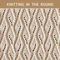 Eyelet Lace 84 -Knitting in the round