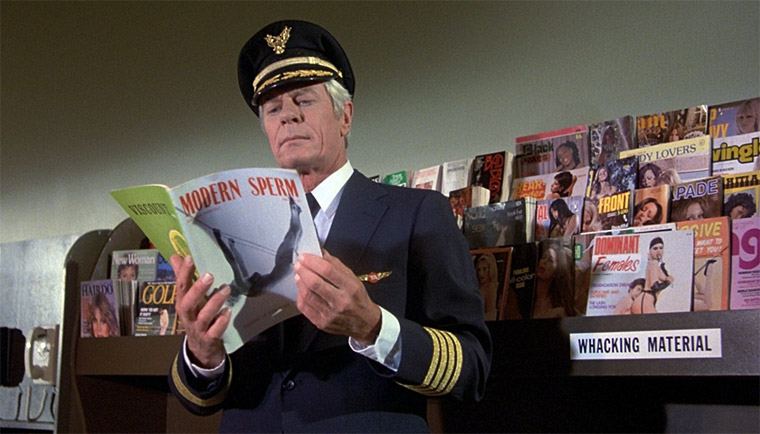 Peter Graves als Captain Oveur in AIRPLANE! / Quelle: Screenshot Paramount Blu-ray (skaliert)